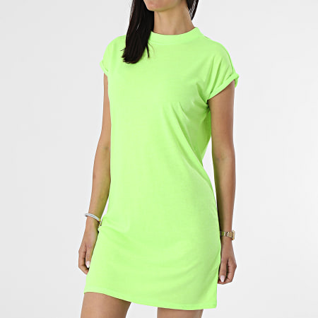 Urban Classics - Robe Tee Shirt Femme TB1910 Vert Fluo
