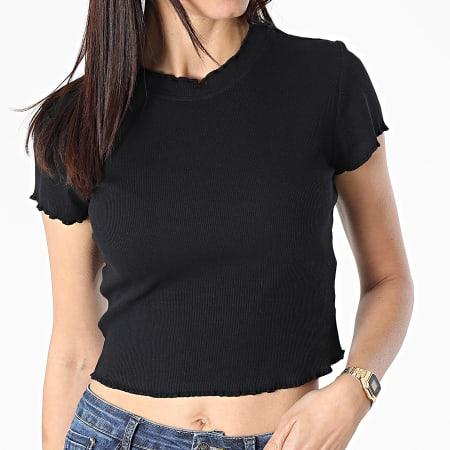 Urban Classics - Tee Shirt Crop Femme TB3444 Noir