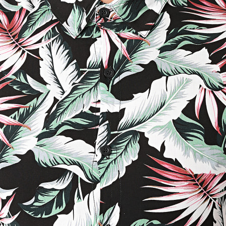 Zayne Paris - Chemise Manches Courtes Floral KD601 Noir