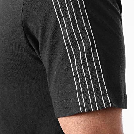 adidas - Tee Shirt A Bandes 3 Stripes GN2417 Noir