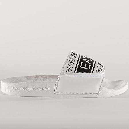 EA7 - Claquettes XCP005-XK192 White Black