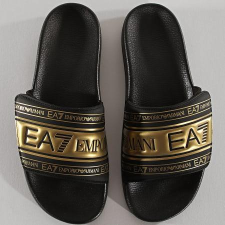 EA7 - Claquettes XCP005-XK192 Black Gold