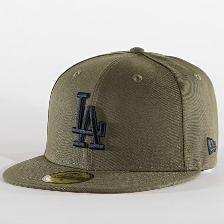 New Era - Casquette Fitted 59Fifty League Essential 60112580 Los Angeles Dodgers Vert Kaki