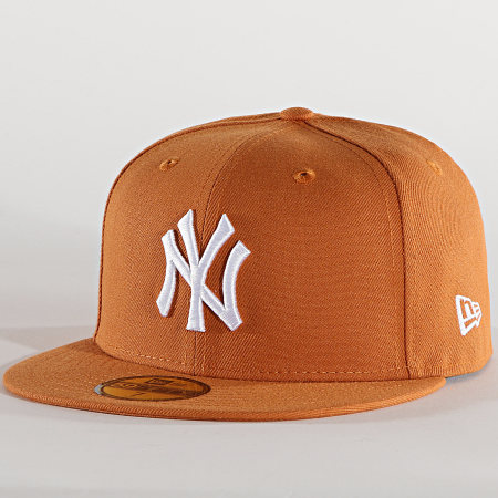 New Era - Casquette Fitted 59Fifty League Essential 60112581 New York Yankees Camel
