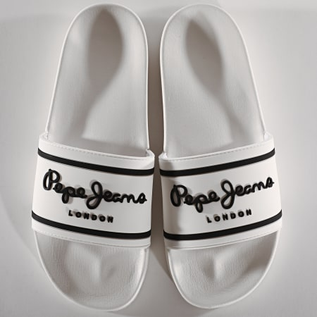 Pepe Jeans - Claquettes Slider Basic 0.2 White