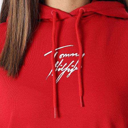 Tommy Hilfiger - Robe Sweat Capuche Femme 2865 Rouge