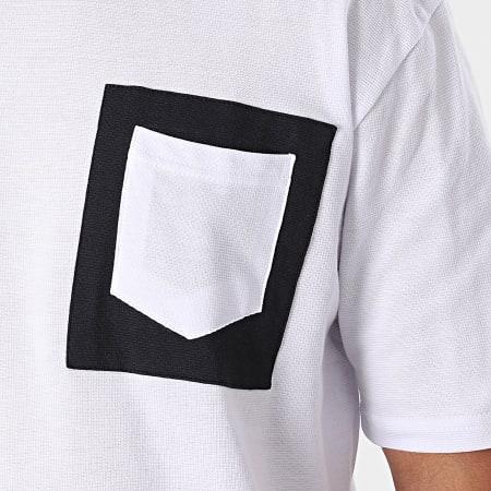 Armita - Tee Shirt Poche AJT-835 Blanc Bleu Marine