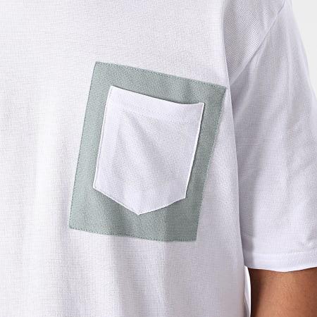 Armita - Tee Shirt Poche AJT-835 Blanc Vert