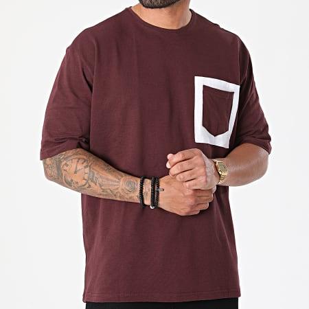 Armita - Tee Shirt Poche AJT-835 Bordeaux