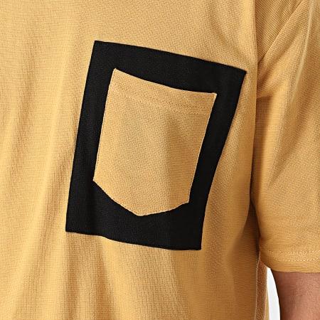 Armita - Tee Shirt Poche AJT-835 Jaune