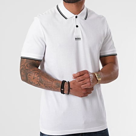 BOSS By Hugo Boss - Polo Manches Courtes 50449367 Blanc