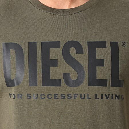 Diesel - Tee Shirt 00SXED-0AAXJ Vert Kaki
