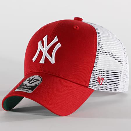 '47 Brand - Casquette Trucker MVP Adjustable BRANS17CTP New York Yankees Rouge Blanc