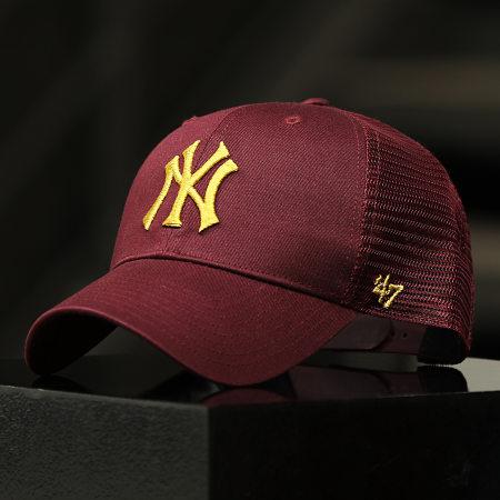 '47 Brand - Casquette Trucker MVP Adjustable BRMTL17CTP New York Yankees Bordeaux