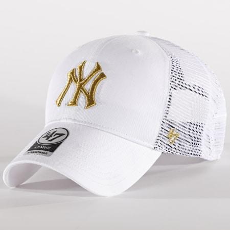 '47 Brand - Casquette Trucker MVP Adjustable BRMTL17CTP New York Yankees Blanc