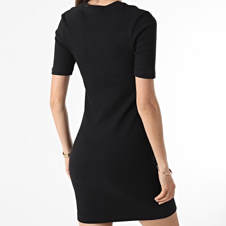 Calvin Klein Jeans - Robe Femme Slub Rib 5679 Noir
