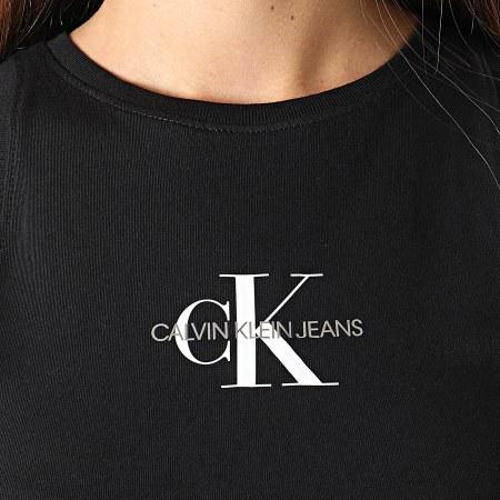 Calvin Klein Jeans - Robe Débardeur Femme Monogram 6579 Noir