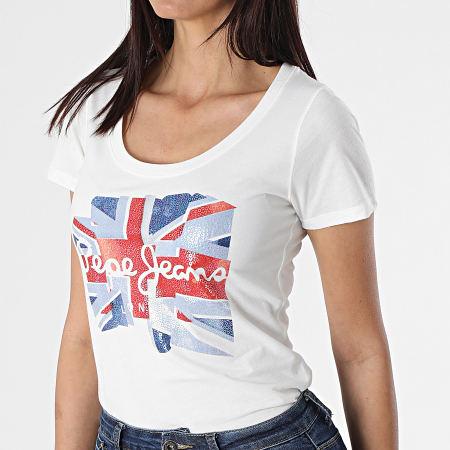 Pepe Jeans - Tee Shirt Femme Blaze Blanc