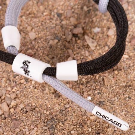 Rastaclat - Bracelet MLB Chicago White Sox Gris Noir