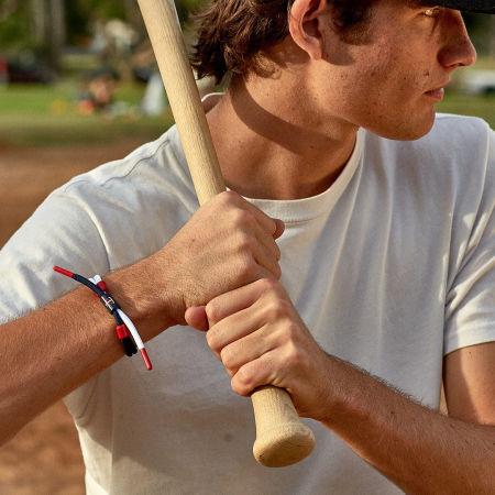 Rastaclat - Bracelet MLB Detroit Tigers Orange Bleu Marine