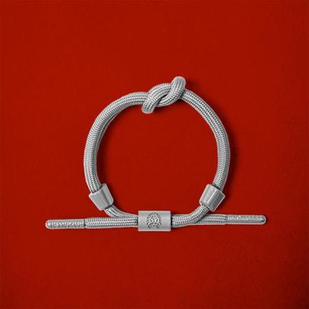 Rastaclat - Bracelet Bone Grey Gris