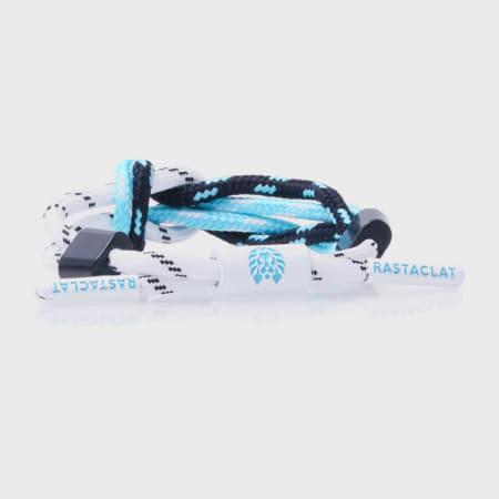 Rastaclat - Bracelet Femme Abseil Blanc Bleu