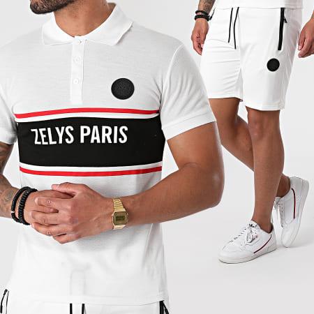Zelys Paris - Ensemble Polo Short Jogging Djoko Blanc
