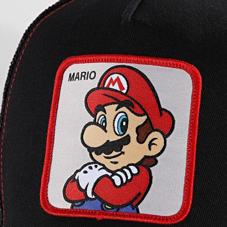Super Mario - Casquette Trucker Mario Noir