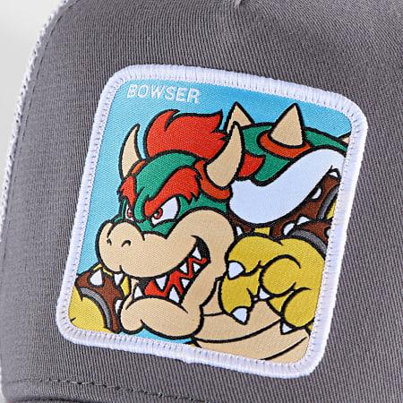 Super Mario - Casquette Trucker Bowser Gris