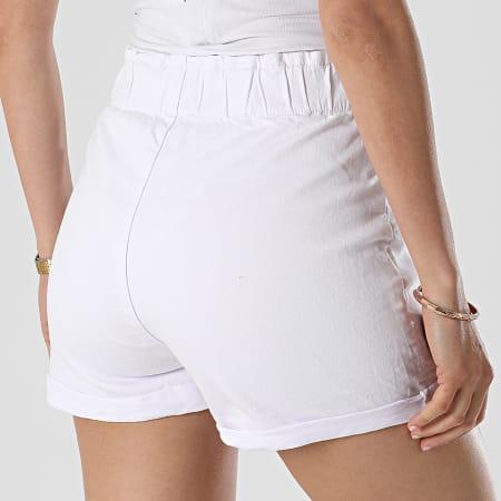 Girls Outift- Short Jean Femme C9069 Blanc