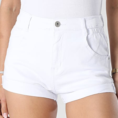Girls Outfit - Short Jean Femme B982 Blanc
