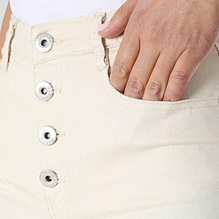 Girls Outfit - Short Jean Femme C9063 Beige