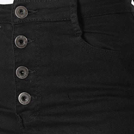 Girls Outift - Short Jean C9063 Femme Noir