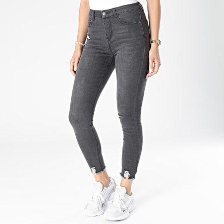 Girls Outfit - Jean Skinny Femme JD286GM Gris Anthracite