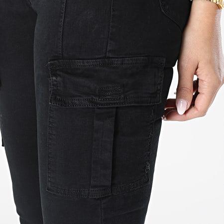 Girls Outfit - Pantalon Cargo Skinny Femme MA-2008 Noir