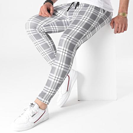 John H - Pantalon A Carreaux XW2P16 Gris