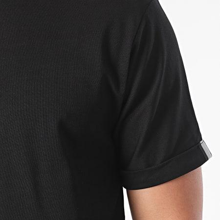 John H - Tee Shirt Oversize T112 Noir Réfléchissant