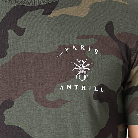 Anthill - Tee Shirt Camouflage Chest Logo Vert Kaki Blanc