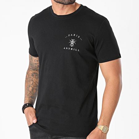Anthill - Tee Shirt Chest Logo Noir Blanc