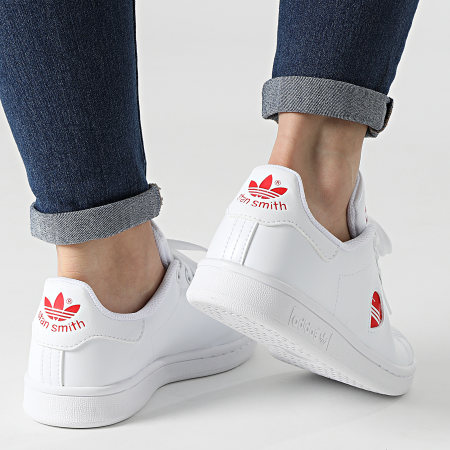 adidas - Baskets Femme Stan Smith FY4481 Footwear White Vivid Red