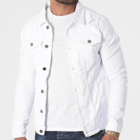 Black Industry - Veste Jean 2316 Blanc