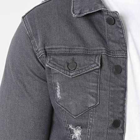 Black Industry - Veste Jean 6316 Gris Anthracite