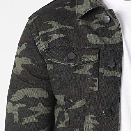 Black Industry - Veste Jean 1016 Vert Kaki Camouflage
