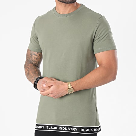 Black Industry - Tee Shirt Oversize 20-58 Vert Kaki