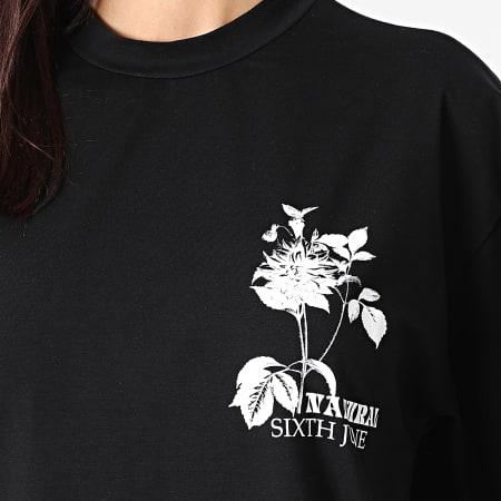 Sixth June - Robe Tee Shirt Femme W32787VTS Noir