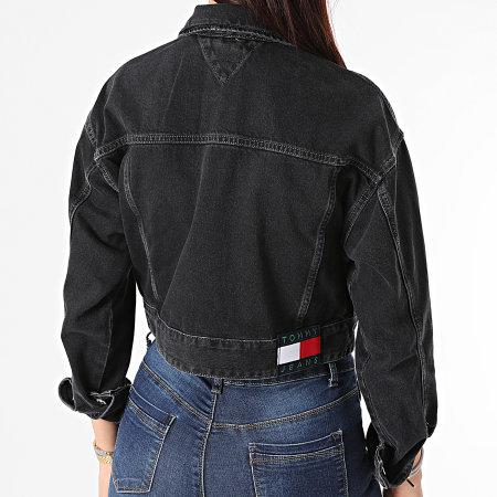 Tommy Jeans - Veste Jean Femme Cropped Trucker 0071 Noir