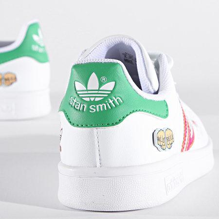 adidas - Baskets Enfant Stan Smith FX5976 Cloud White Vivid Green