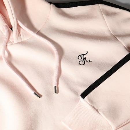 Final Club - Sweat Capuche Premium Avec Bande 630 Rose Pastel