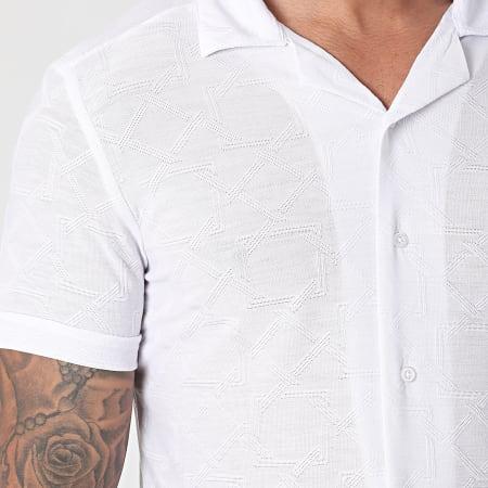 Mackten - Chemise Manches Courtes 104BL Blanc