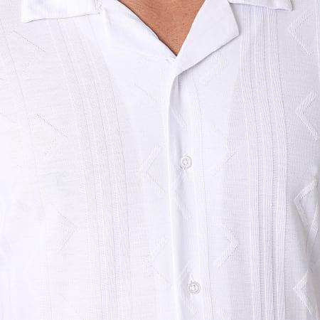 Mackten - Chemise Manches Courtes 106BL Blanc